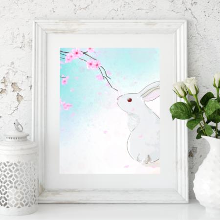 Sakura das Kaninchen, Poster, A4