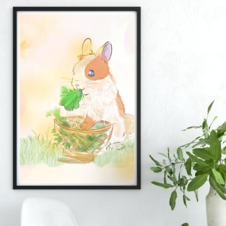 Kaninchen Schleckermäulchen, Poster