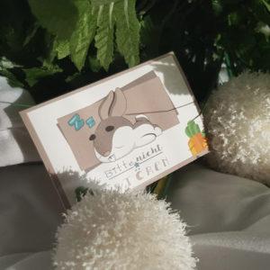 """Kaninchen-Sticker """"Bitte nicht stören"""""""