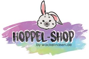 Hoppel-Shop dein Kaninchen-Shop Logo mobil