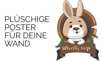 Plüschige Kaninchen Poster
