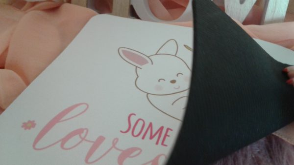 Kaninchen Mousepad Somebunny loves you unten
