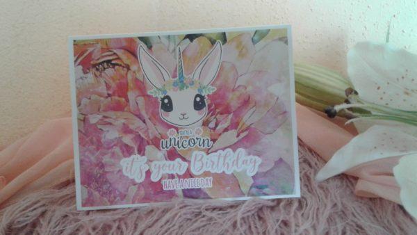 Kaninchen Grußkarte Happy Birthday