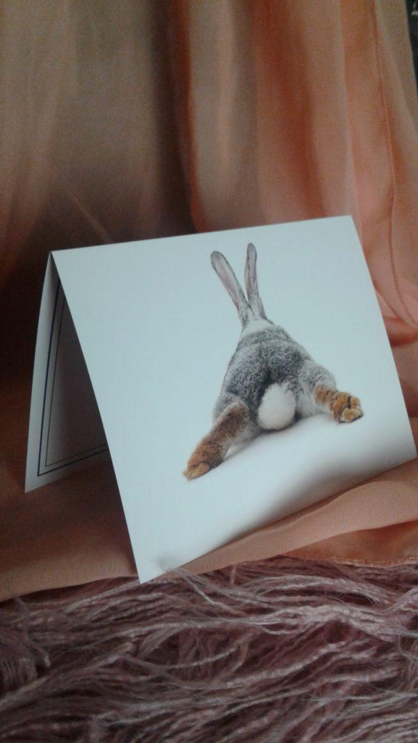 Kaninchen Grußkarte Puschel