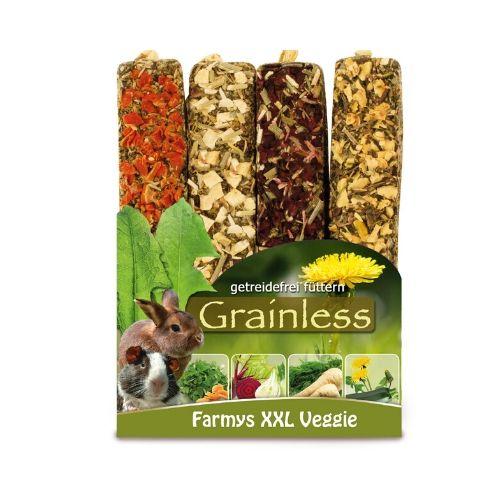 Nahrung für Kaninchen und Nager von JR Farm - Grainless Farmys XXL Veggie 4er-Pack 450g Verpackung