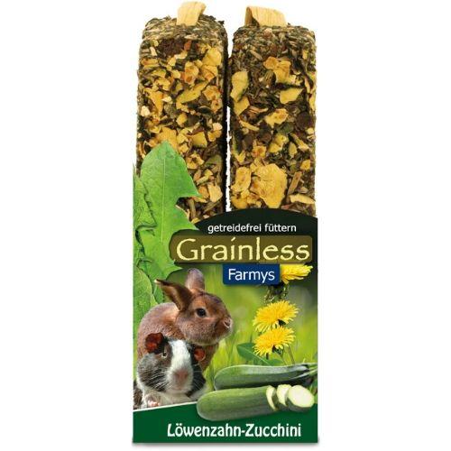 Nahrung für Kaninchen und Nager von JR Farm - Grainless Farmys Löwenzahl-Zucchini 140g Verpackung
