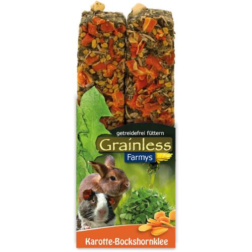 Nahrung für Kaninchen und Nager von JR Farm - Grainless Farmys Karotte-Bockshornklee 140g Verpackung