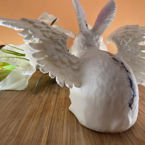 Selbstgemachtes 3D-Kaninchen bemalt 3